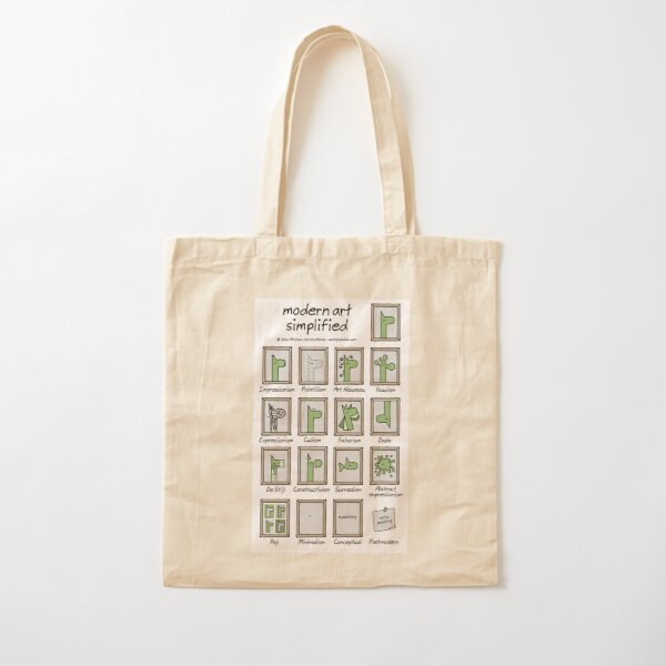 modern art simplified Cotton Tote Bag