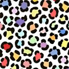 Trendy Multicolored Leopard Fur Effect Pattern by NataliePaskell