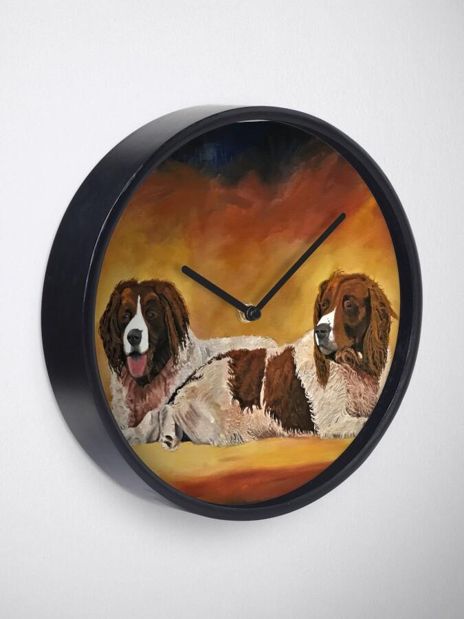 Alternate view of Spaniel Friends - Clock Clock