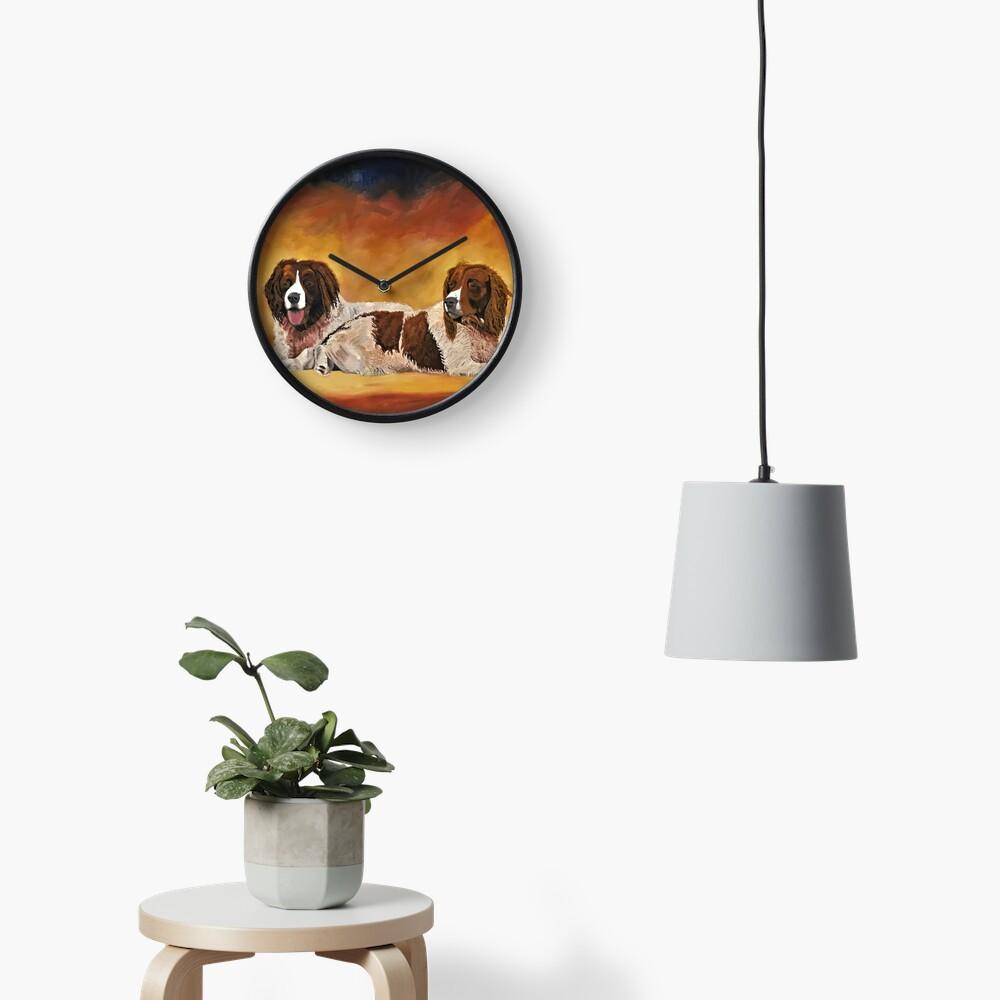 Spaniel Friends - Clock Clock