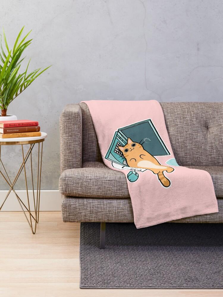 Alternative Ansicht von Nette Laptop-Katze Fleecedecke