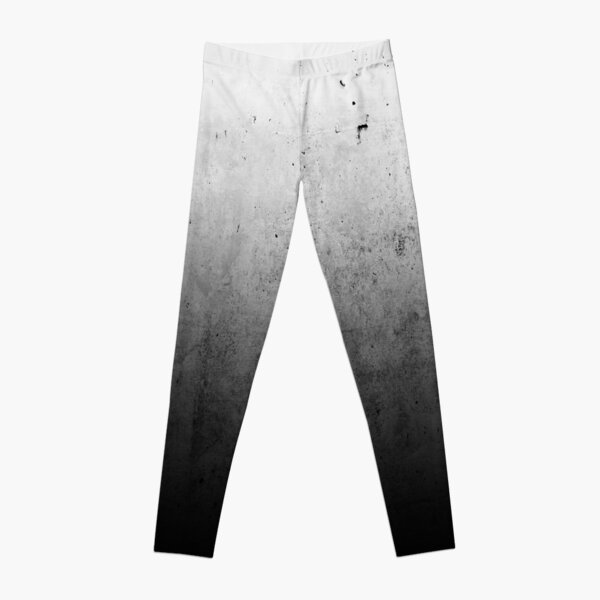 Black Ombre on Concrete Texture Leggings
