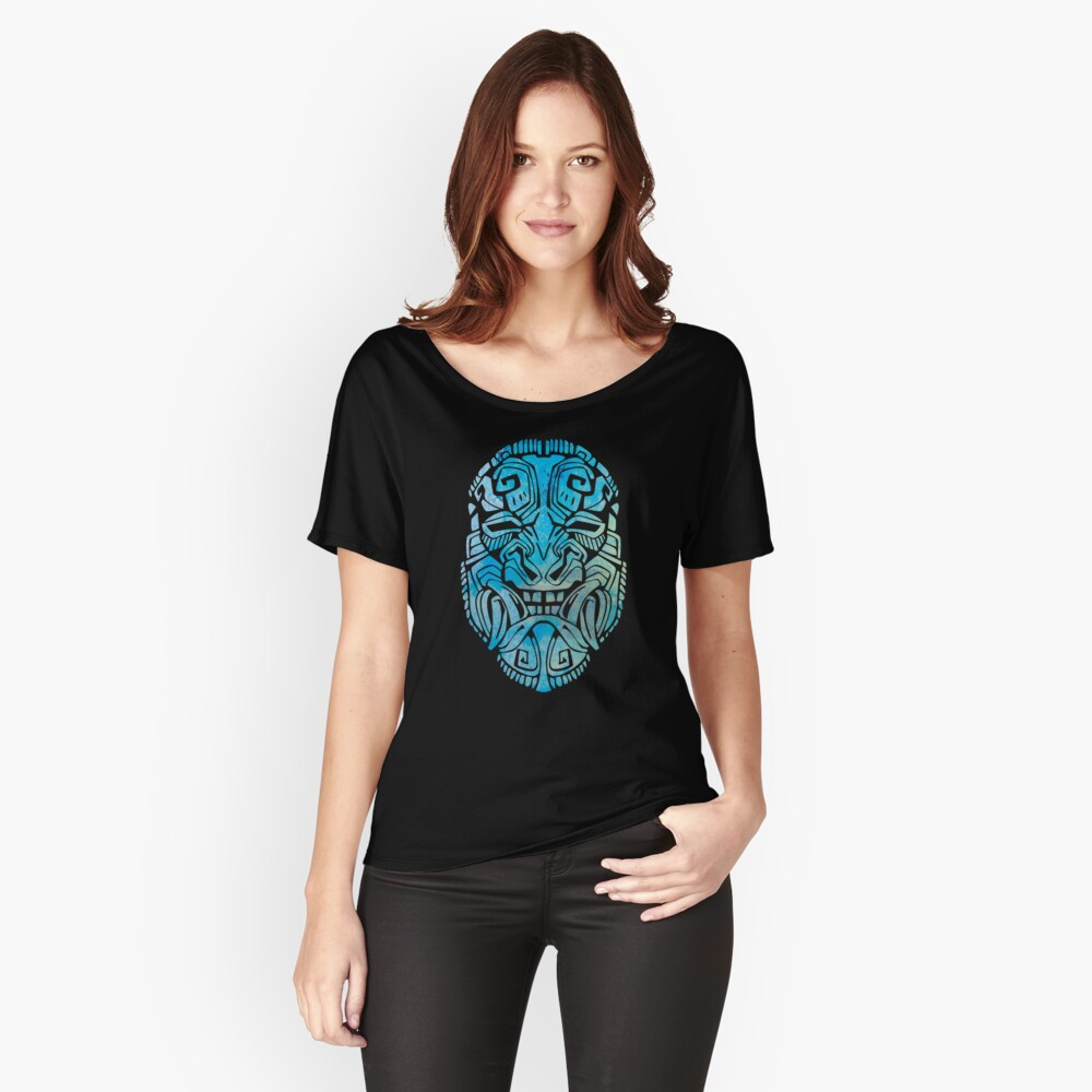 Mesoamerica Mask Watercolor Women's Relaxed Fit T-Shirt Front
