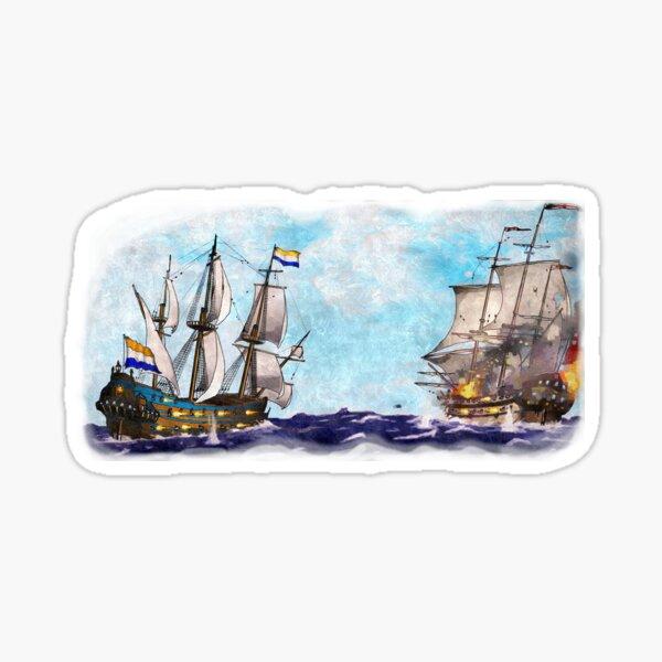 Anglo-Dutch Sea Battle Sticker