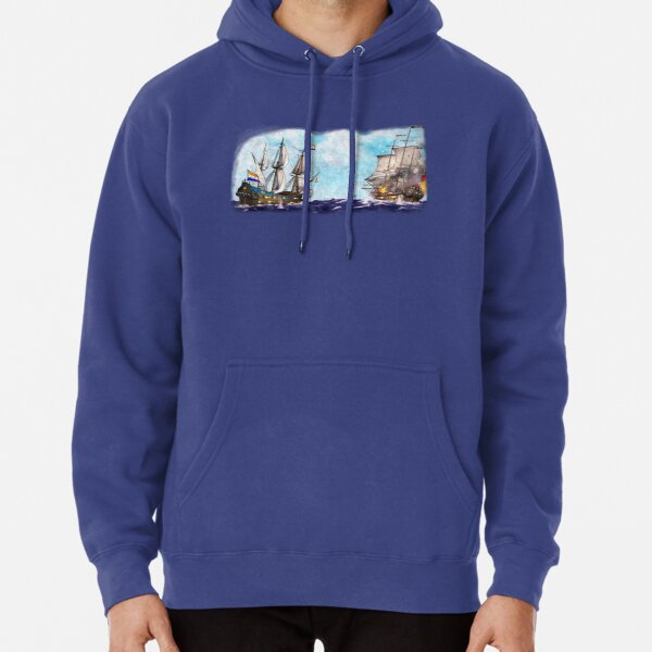 Anglo-Dutch Sea Battle Pullover Hoodie