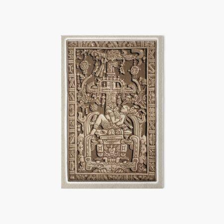 Ancient Astronaut. Pakal, Maya, sarcophagus lid. Art Board Print