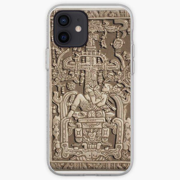 Ancient Astronaut. Pakal, Maya, sarcophagus lid. iPhone Soft Case