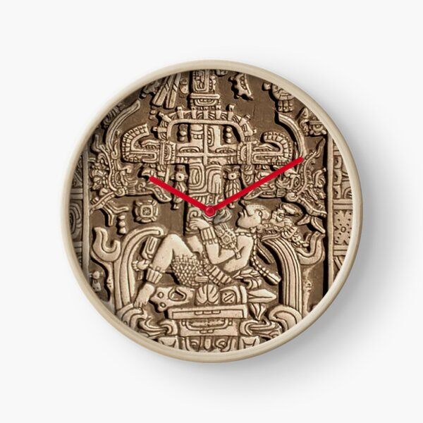 Ancient Astronaut. Pakal, Maya, sarcophagus lid. Clock