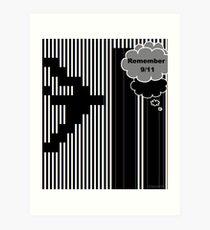 9/11 Ascii Art Print