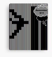 9/11 Ascii Canvas Print