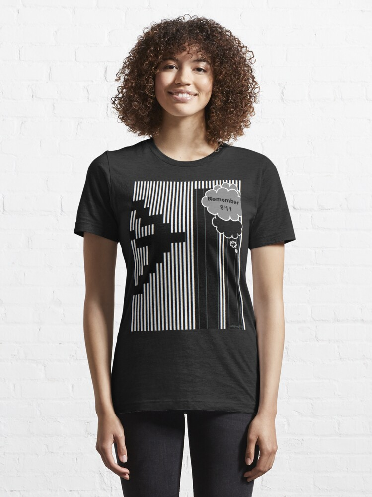 Alternate view of 9/11 Ascii Essential T-Shirt