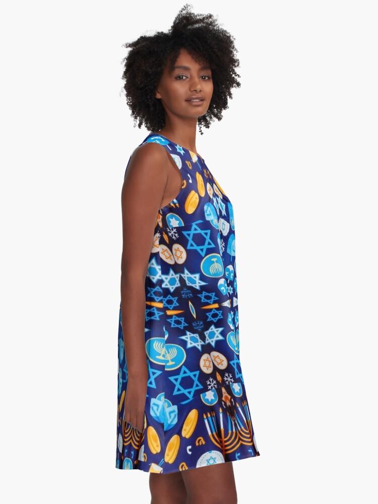 Alternate view of HANUKKAH HOLIDAY DRESS #Jewish #HANUKKAH #HOLIDAY #DRESS A-Line Dress