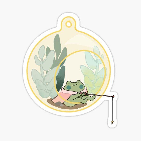 frog terrarium fishing Sticker