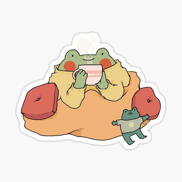 Cozy frog! Sticker