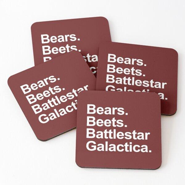 Bears Beets Battlestar Galactica Shirt - The office Shirt.  Coasters (Set of 4)