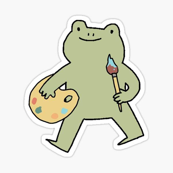 Artiste grenouille Sticker