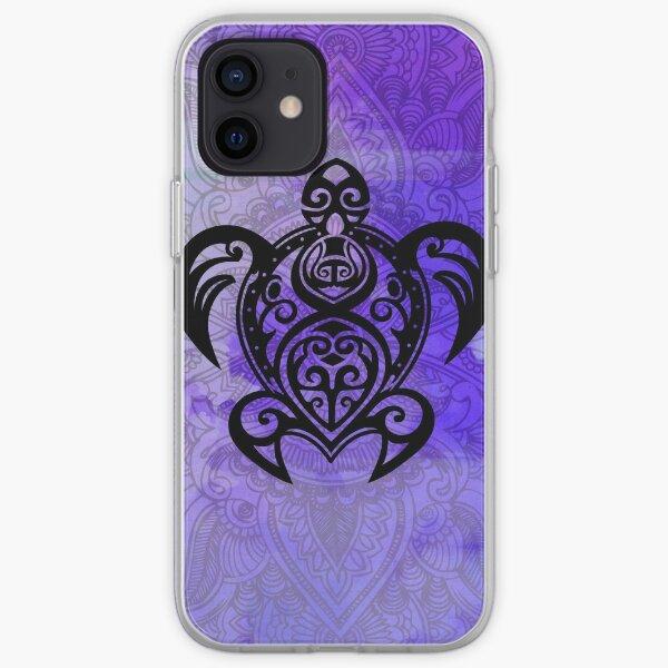 Sea Turtle Mandala Paisley on Purple - Hawaiian style iPhone Soft Case