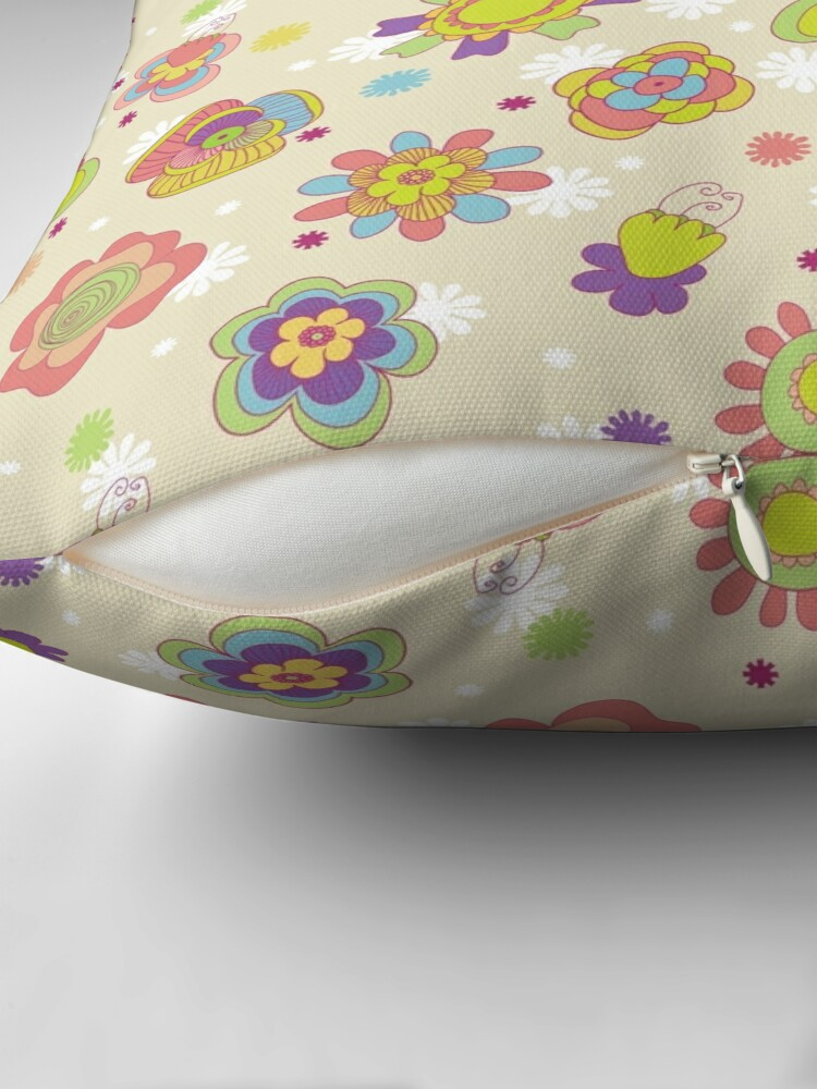 Alternate view of Floral,decorative. Throw Pillow