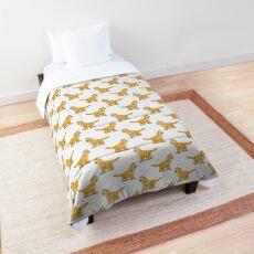 Orange Tabby Kitten Graphic Comforter