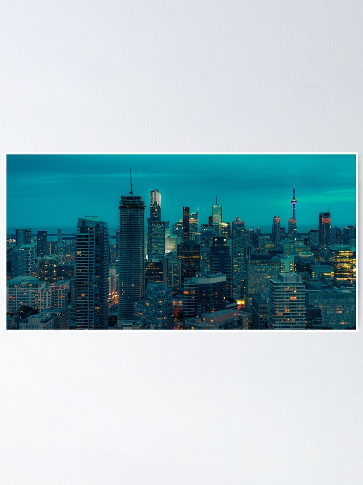 Alternate view of Toronto at night Poster