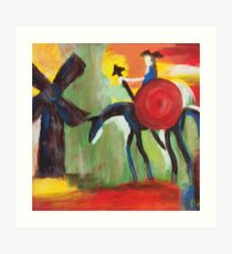 Don Quijote and the Windmill Art Print