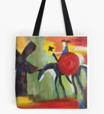 Don Quijote and the Windmill Tote Bag