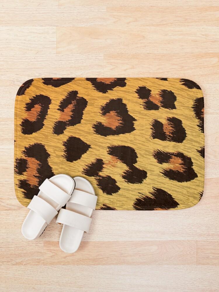Leopard Pattern Bath Mats