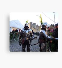 Knights in shining armour! Canvas Print