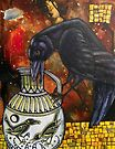 Crow and Pitcher by Lynnette Shelley