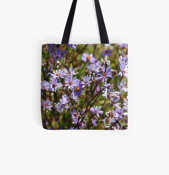 Purple Daisy's All Over Print Tote Bag