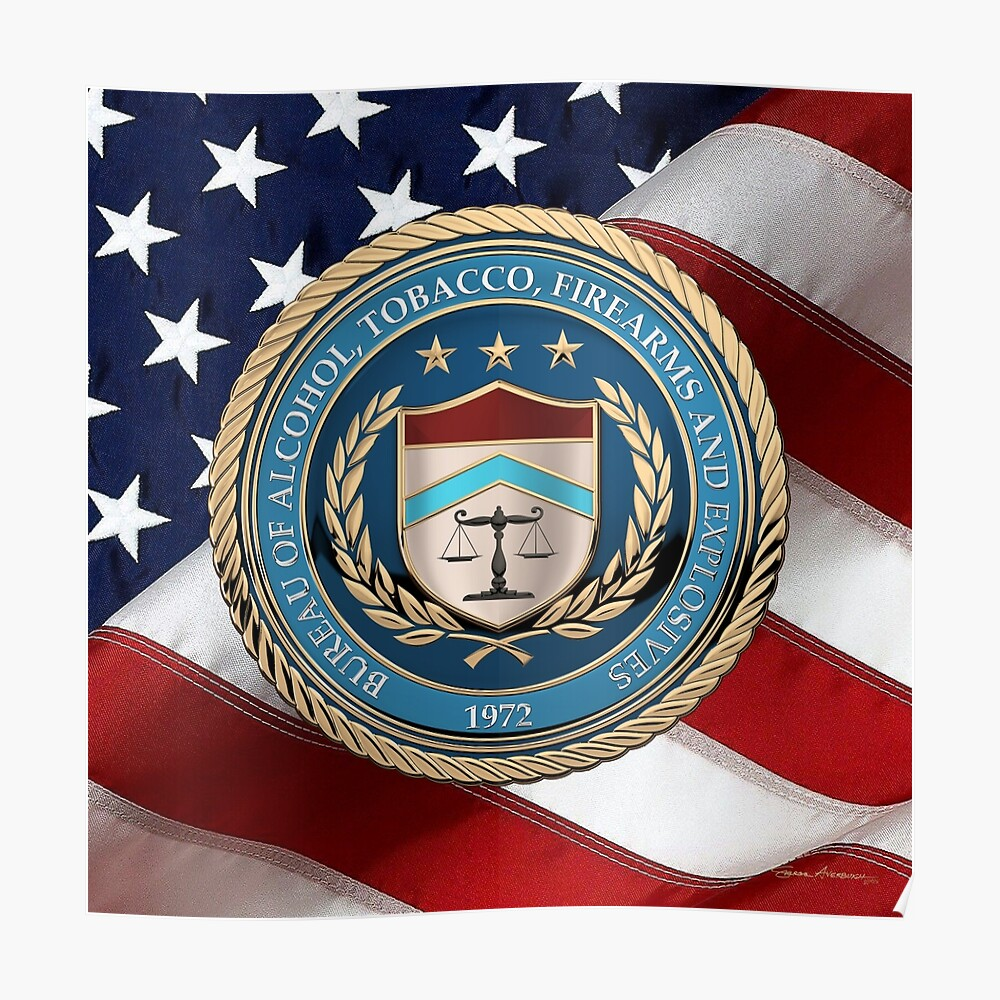 """ATF SEAL 1/"""" STICKERS ALCOHOL TOBACCO FIREARMS /& EXPLOSIVES DEPT OF JUSTICE Details about  / 10"""