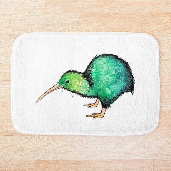 Cute Kiwi - Watercolour Art Bath Mat