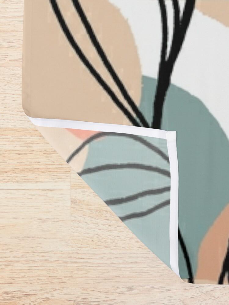 Alternative Ansicht von Schwarzblätter und Pastellhintergrund Duschvorhang
