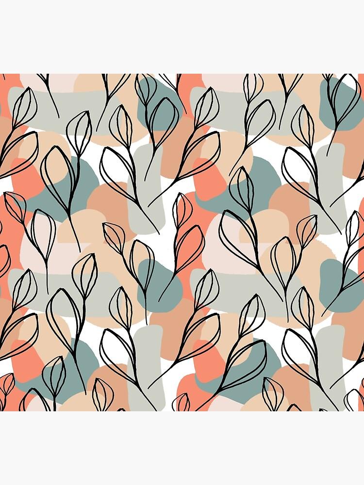 Schwarzblätter und Pastellhintergrund von RanitasArt