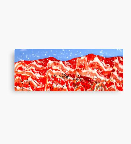Snow in the Brecon Bacons Canvas Print