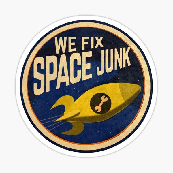 We Fix Space Junk logo Sticker