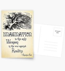 Alice in Wonderland Quote - Imagination is the only Weapon in the war against Reality - Cheshire Cat - 0139 Postcards
