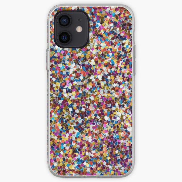 Rainbow Sequins Art iPhone Soft Case