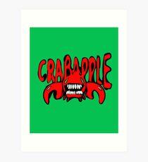 Crabapple Red Monster Art Print