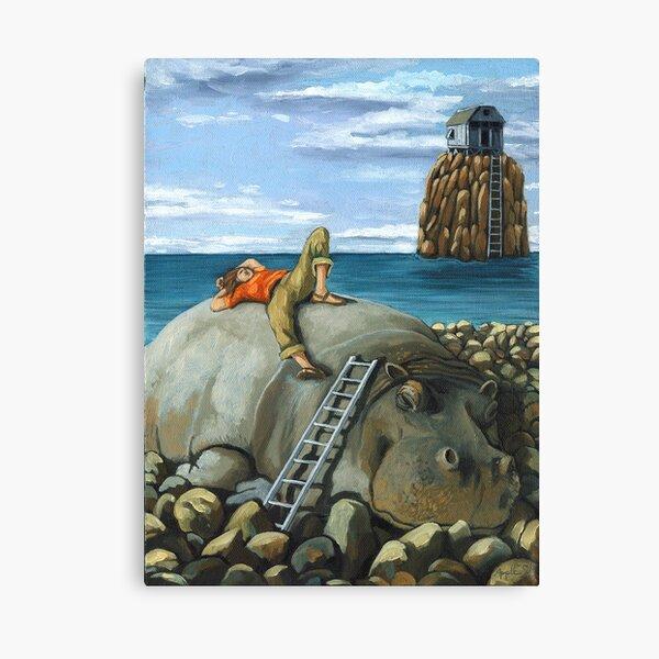 Lazy Days - surreal landscape Canvas Print
