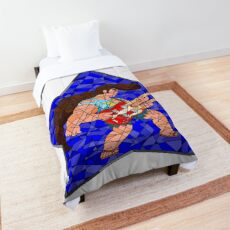 Stained Glass Steg on Blue Comforter