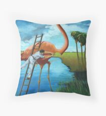 The Plein Air Wildlife Artist @ Work Throw Pillow