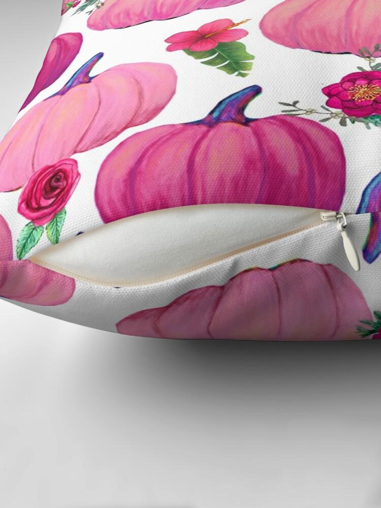 Alternate view of Pink Pumpkin, Fall Delight Throw Pillow