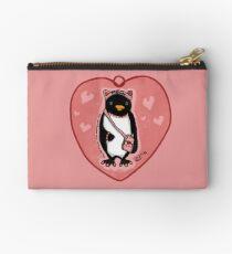 Pink Kitty Penguin Zipper Pouch