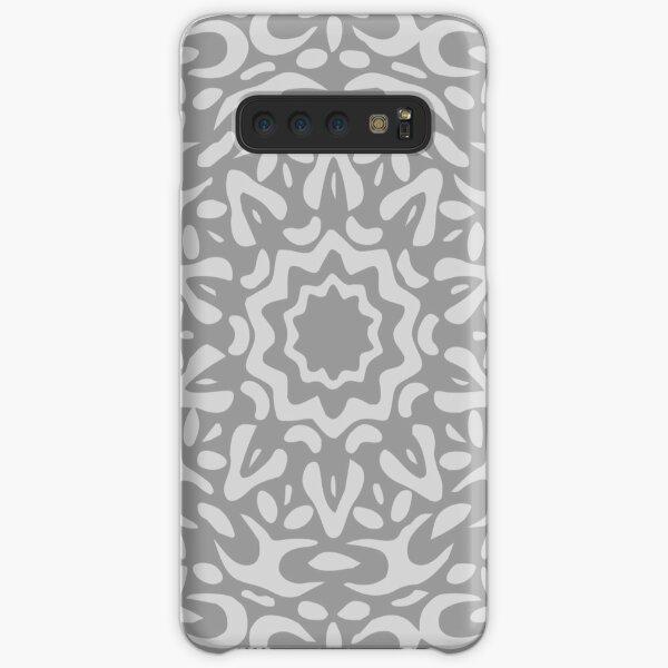 Grey Abstract Floral Chain Mandala Samsung Galaxy Snap Case
