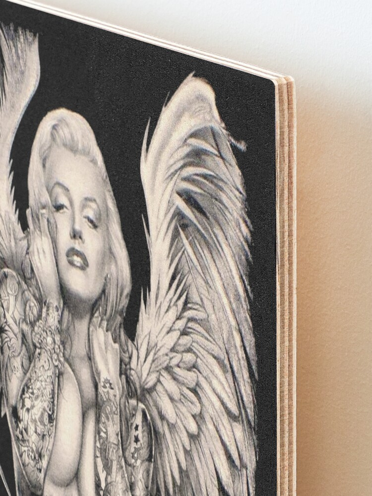 Alternate view of MARILYN : Vintage Abstract Tattooed Angel Print Mounted Print