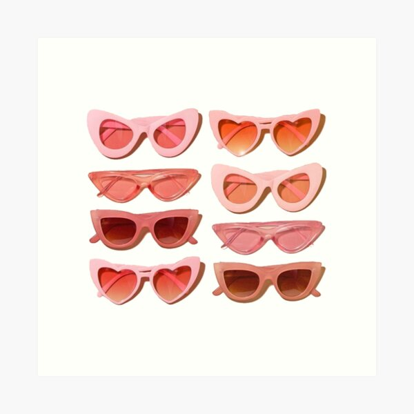 trendy glasses Art Print