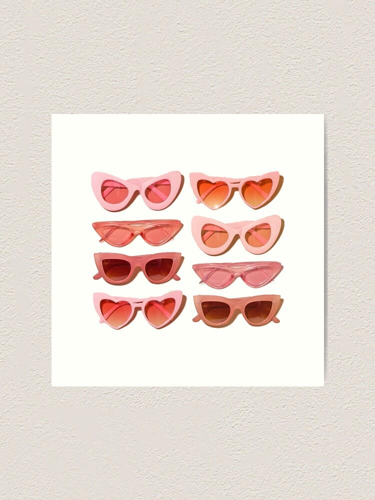 Alternate view of trendy glasses Art Print