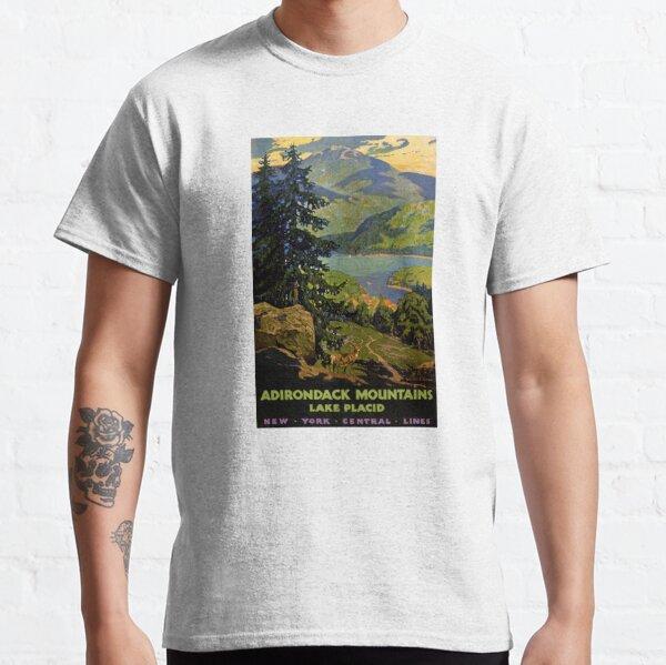 Adirondack Mountains Lake Placid Vintage Poster Restored Classic T-Shirt