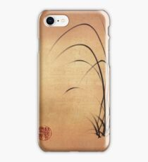 Lyrical Dreams - original sumie ink brush pen Zen drawing by Rebecca Rees iPhone Case/Skin